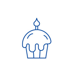easter cake line icon concept easter cake flat vector image