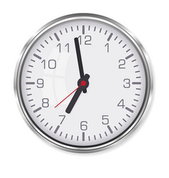 elegant office clock vector image