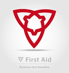 First aid business icon vector image