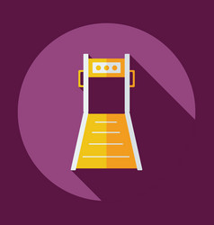 Flat modern design with shadow icon treadmill vector