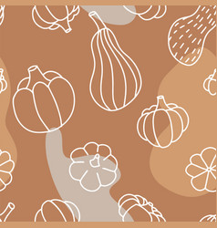 Food seamless pattern in line art and doodle vector