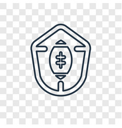 football shield linear icon isolated on vector image