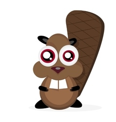 Funny cartoon beavers vector image