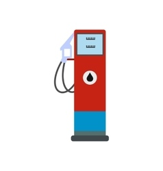 Gasoline refueling flat icon vector image