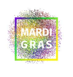 geometric colorful mardi gras carnival logo vector image