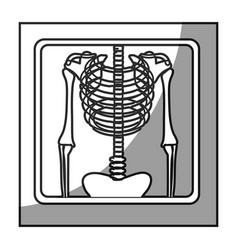grayscale square frame shading with chest vector image