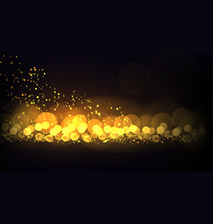 grunge effect gold dlitter lights christmas vector image