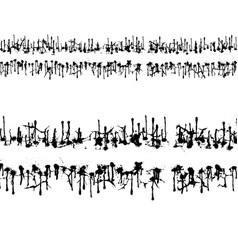 grunge path set vector image