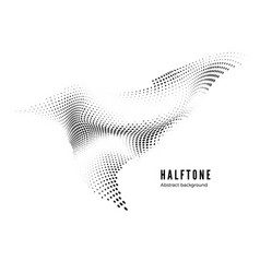 halftone design element motion effect abstract vector image