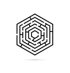 hexagon maze business confusion and solution vector image
