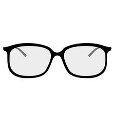 isolated glasses icon vector image