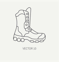 Line flat hunt and camping icon - ankle vector