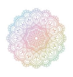 Mandala design in rainbow colours vector