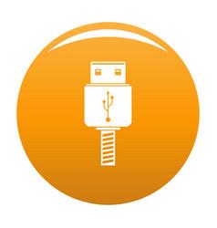 memory flash drive icon orange vector image