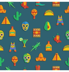 Mexican pattern vector
