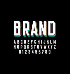 modern bold 3d font design alphabet letters and vector image