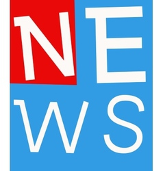 news labels vector image