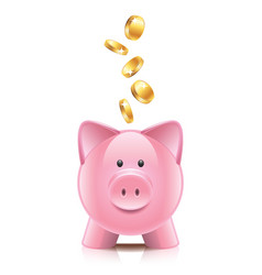 Object piggy bank vector