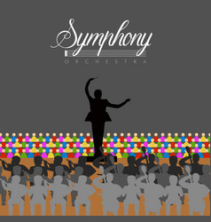 Orchestra in a theater vector