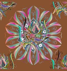 Oriental motifs spiritual and ritual symbol of vector