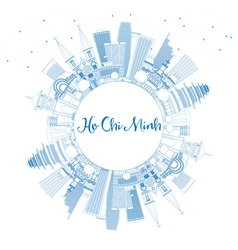 Outline Ho Chi Minh Skyline vector