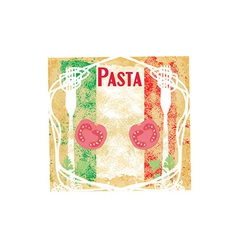 Pasta background design vector