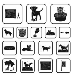 Pet black icons in set collection for design care vector