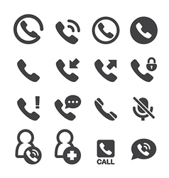 phone and call icon vector image