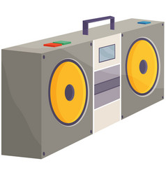 retro tape recorder for audio cassettes vector image