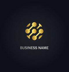Round connect business logo vector