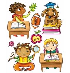 schoolchildren set 2 vector image