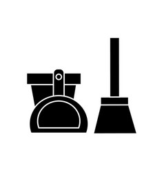scoop bucket brush icon vector image