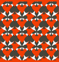 Seamless pattern cards suits vector