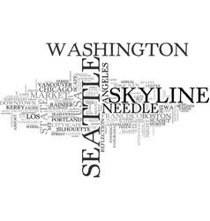 Seattle word cloud concept vector