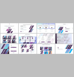 Set of templates for website design vector