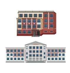 Set with two of buildings vector