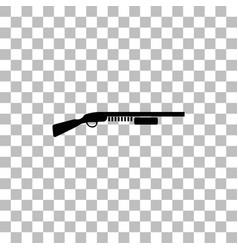 Shotgun icon flat vector