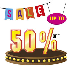 special 50 offer sale tag isolated vector image