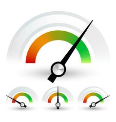 Speedometers or general indicators with needles vector
