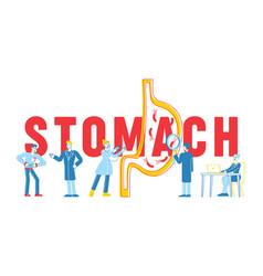 Stomach abdominal pain concept gastrointestinal vector