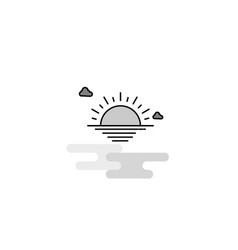 sunset web icon flat line filled gray icon vector image