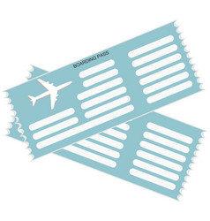 two airplane tickets icon in blue color vector image