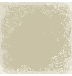 Vintage background beige vector