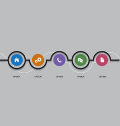 web infographics options round banners vector image