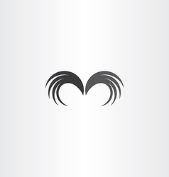 wings icon symbol element vector image