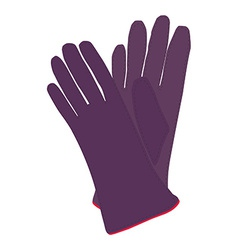 Winter gloves vector