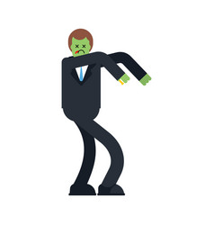 zombie businessman isolated boss is dead vector image