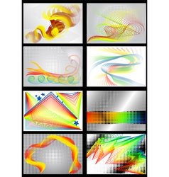 8 bright colored backgrounds vector image