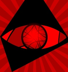 background red eye vector image vector image