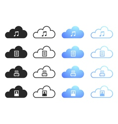 Cloud Computing Collection - Set 2 vector image